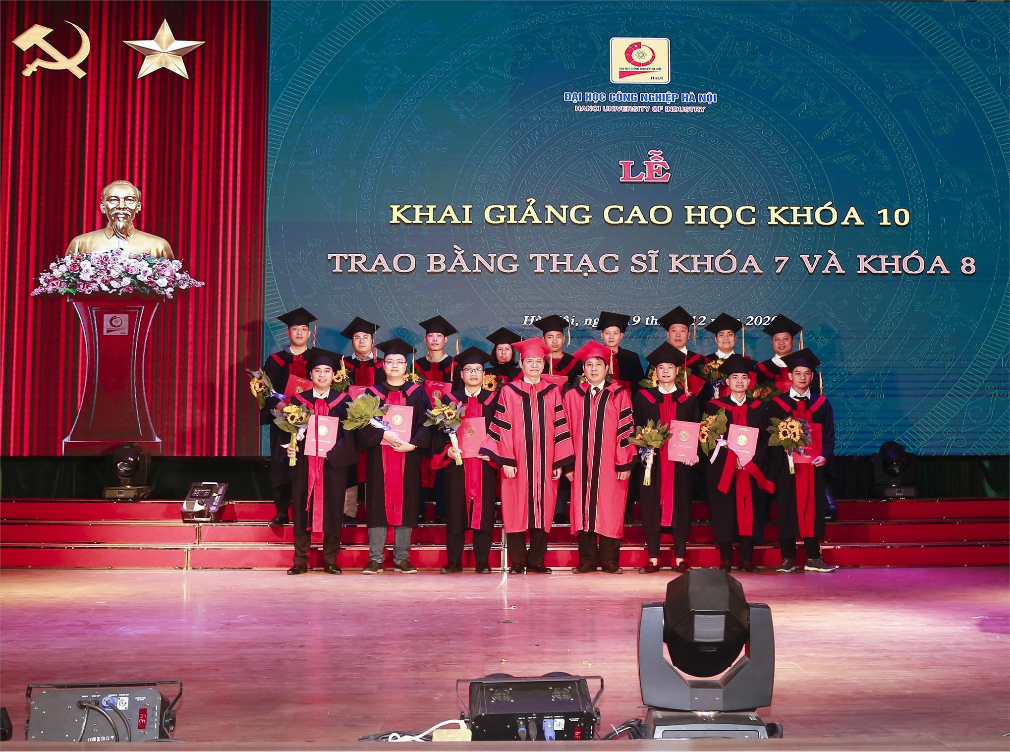 Lễ khai giảng và trao bằng tốt nghiệp Thạc sĩ ĐHCNHN