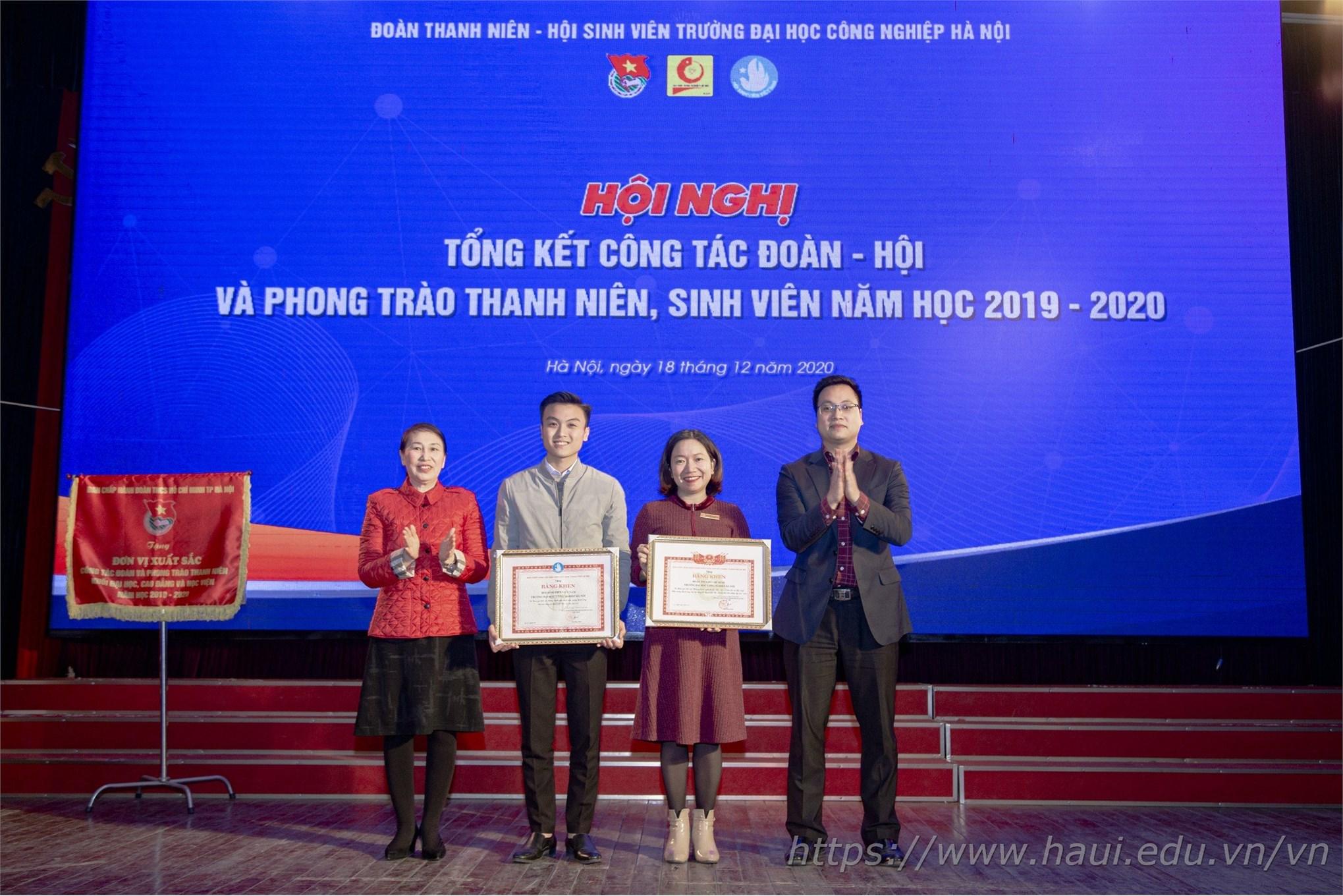 tổng kết công tác Đoàn Hội và phong trào thanh niên sinh viên năm học 2019 - 2020