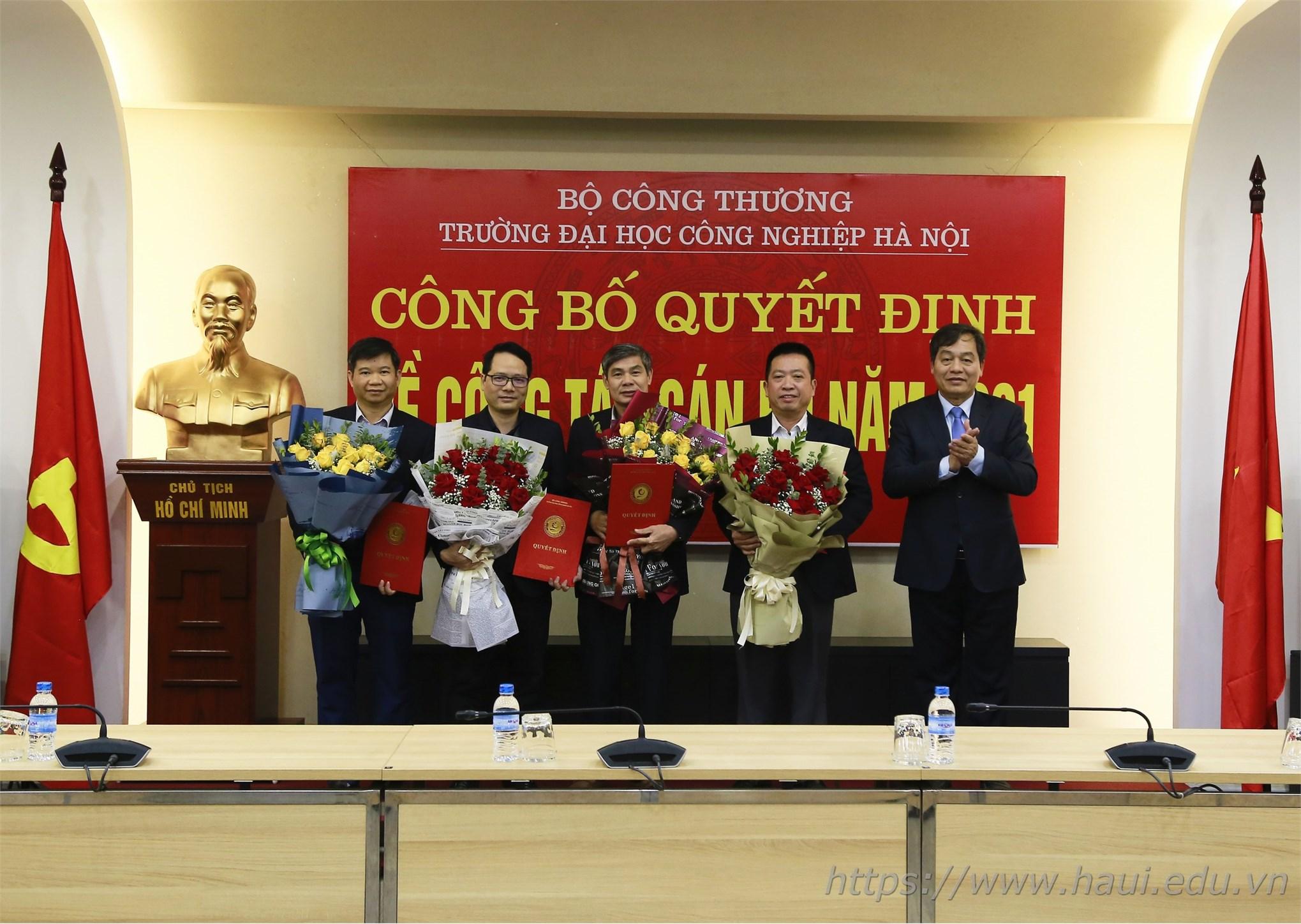Đại học Công nghiệp Hà Nội công bố quyết định về công tác cán bộ