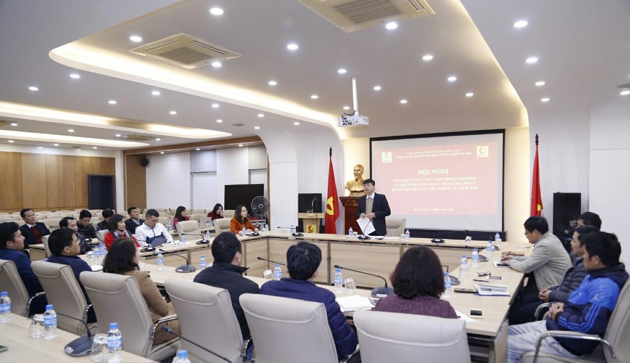 Công đoàn trường Đại học Công nghiệp Hà Nội tổng kết năm 2020a