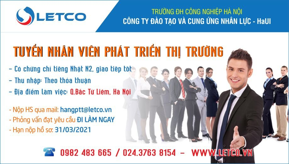 Công ty LETCO thông báo tuyển dụng