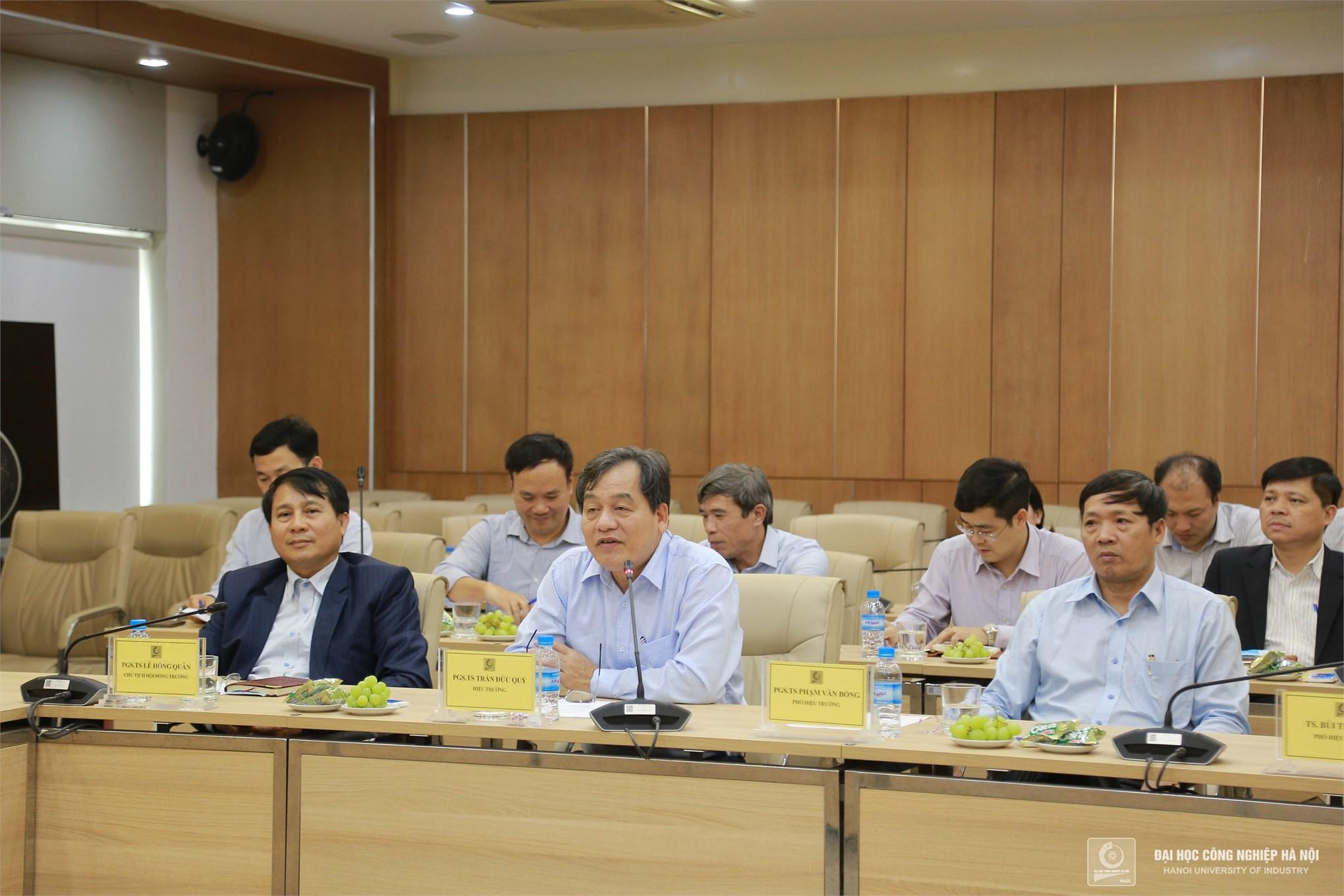 Đại học Công nghệ Giao thông vận tải thăm và làm việc tại Đại học Công nghiệp Hà Nội
