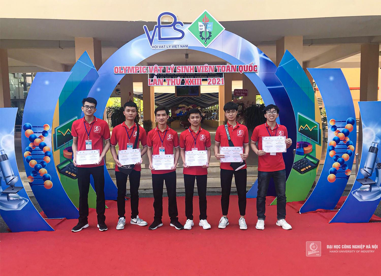 Đại học Công nghiệp Hà Nội đạt giải Nhất toàn đoàn Cuộc thi Olympic Vật lý sinh viên toàn quốc 2021