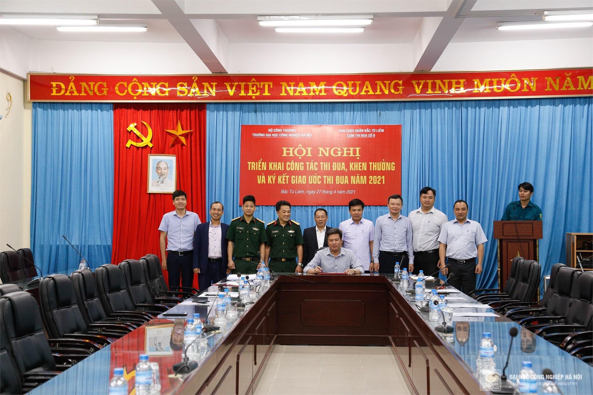 Đại học Công nghiệp Hà Nội ký kết giao ước thi đua của Cụm thi đua số 6 năm 2021