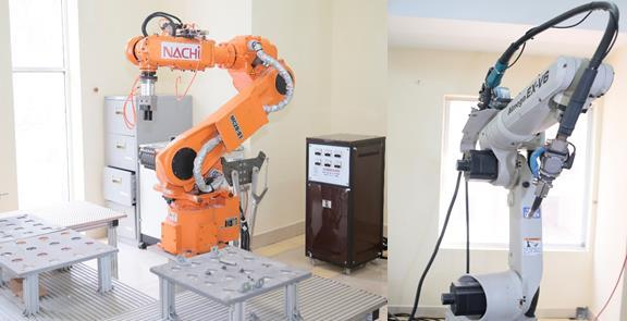 Robot công nghiệp phục vụ đào tạo và nghiên cứu tại Đại học Công nghiệp Hà Nội