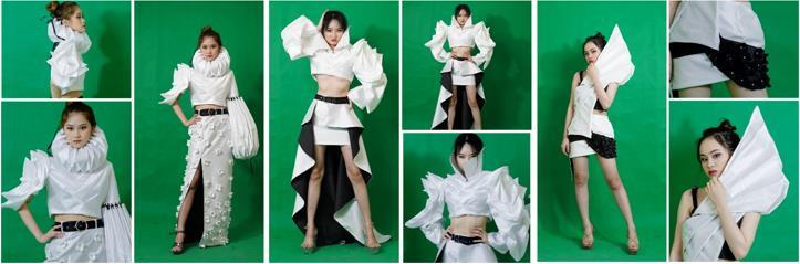 """""""Ứng dụng nghệ thuật gấp giấy Nhật Bản - Origami trong thiết kế thời trang ấn tượng cho nữ tuổi 20 -30"""""""