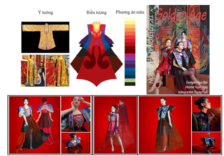 """""""Áo Nhật Bình của hoàng hậu triều Nguyễn ứng dụng trong thiết kế thời trang dạ hội cho nữ 25 - 30 tuổi"""""""