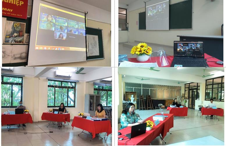 Successful online graduation project defense by students of Bachelor of Fashion Design