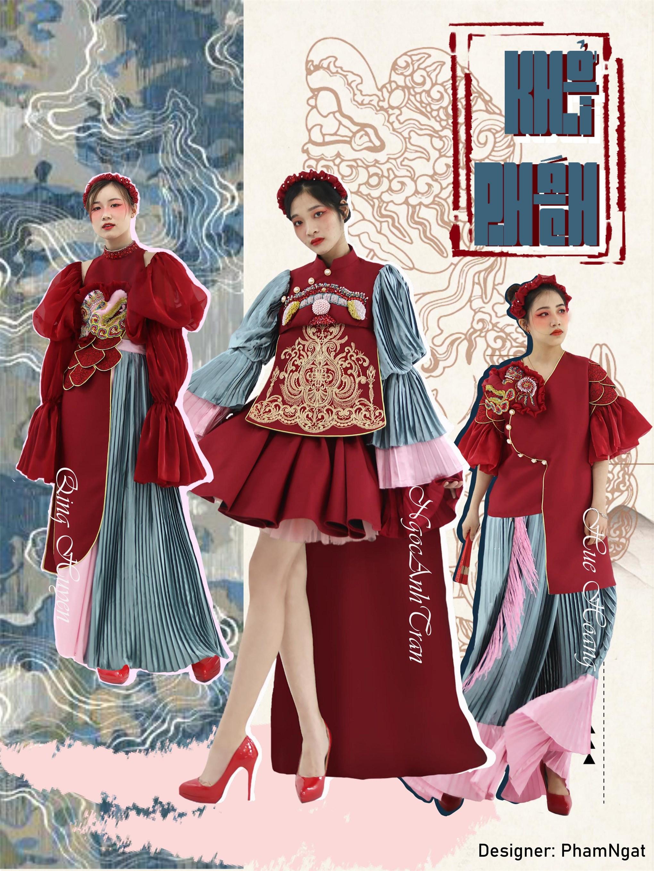 Nữ sinh Đại học Công nghiệp Hà Nội đưa lịch sử Việt Nam lên các thiết kế thời trang