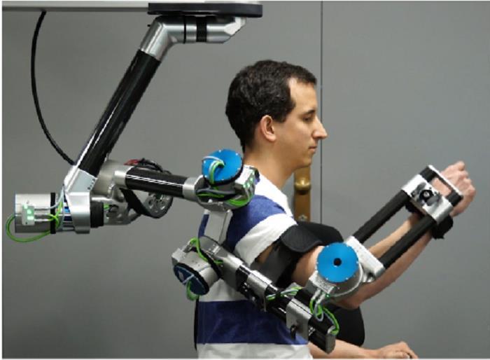 Robot phục hồi chức năng chi trên sẽ có khớp vai, khuỷu tay và cổ tay. Việc mở rộng các khớp này đến một góc cụ thể sẽ giúp cánh tay di chuyển theo một cách nhất định. Ảnh: Semantic Scholar