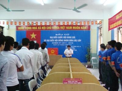 Cuộc bầu cử Đại biểu Quốc hội khóa XIII và Đại biểu hội đồng nhân dân các cấp tại trường Đại học Công nghiệp Hà Nội