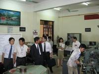 Đoàn cán bộ cấp cao của tổ chức Japan International Cooperation Agency (JICA Vietnam) đến thăm và làm việc với trường