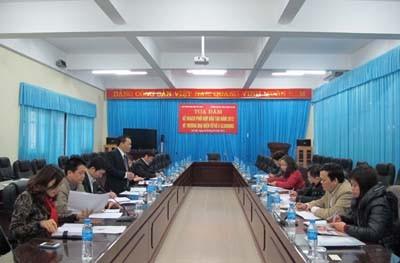 Đoàn cán bộ BHXH Thành phố Hà Nội kiểm tra công tác thực hiện BHXH – BHYT của nhà trường