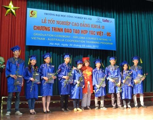 Lễ tốt nghiệp Cao đẳng khóa 12 Chương trình đào tạo hợp tác quốc tế Việt Nam-Australia