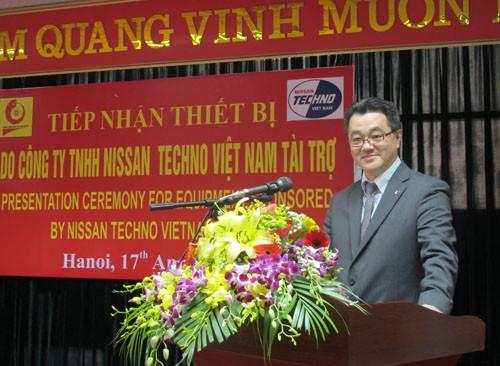 Tiếp nhận thiết bị do Công ty Nisan Techno Việt Nam tài trợ