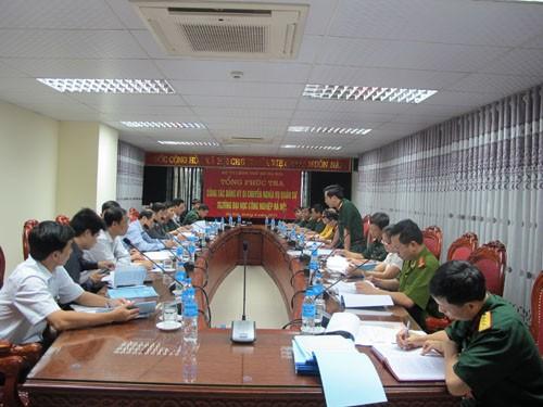 Bộ Tư lệnh Thủ đô làm việc với trường về công tác Quân sự