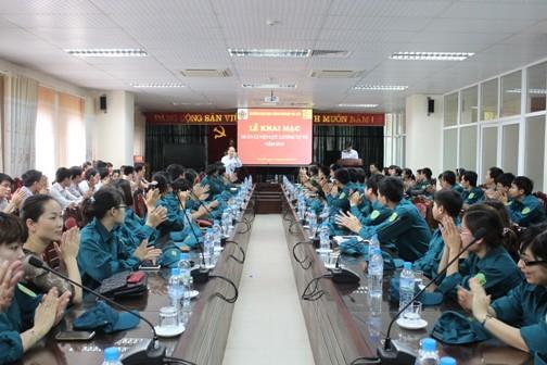 Lễ ra quân huấn luyện lực lượng tự vệ năm 2013