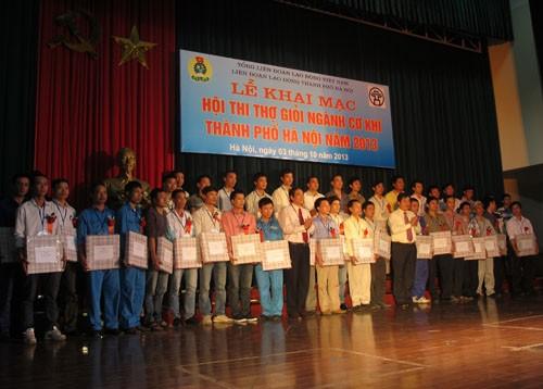 Khai mạc Hội thi thợ giỏi ngành cơ khí thành phố Hà Nội năm 2013