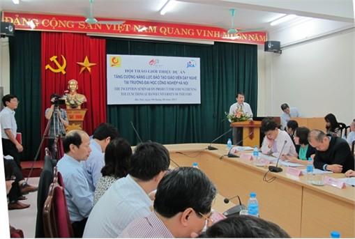 """Hội thảo giới thiệu dự án """"Tăng cường năng lực đào tạo giáo viên kỹ thuật dạy nghề tại trường Đại học Công nghiệp Hà Nội"""""""