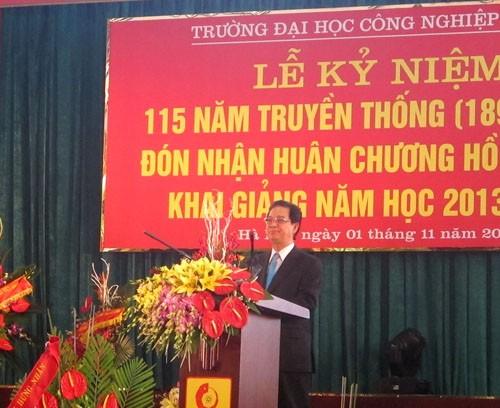 Tổ chức Lễ kỷ niệm 115 năm truyền thống nhà trường, đón nhận Huân chương Hồ Chí Minh và Khai giảng năm học mới