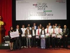 Sinh viên Đại học Công nghiệp Hà Nội nhận học bổng Toyota