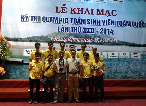 Đội tuyển Olympic Toán của Nhà trường tham dự Olympic Toán sinh viên Toàn quốc lần thứ XXII