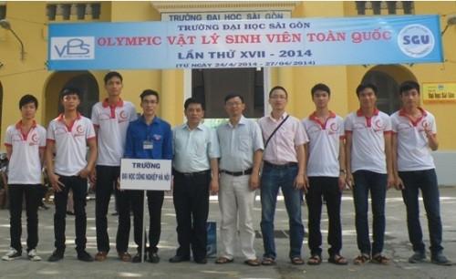 Sinh viên Nhà trường tham dự Cuộc thi Olympic Vật lý sinh viên toàn quốc lần thứ 17