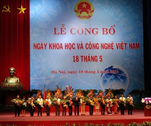 Lễ công bố ngày Khoa học và công nghệ Việt Nam 18/5