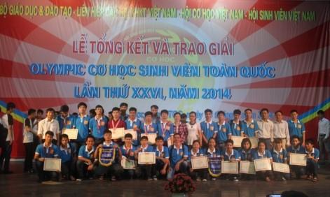 Trao giải Olympic Cơ học Toàn quốc lần thứ XXVI - 2014