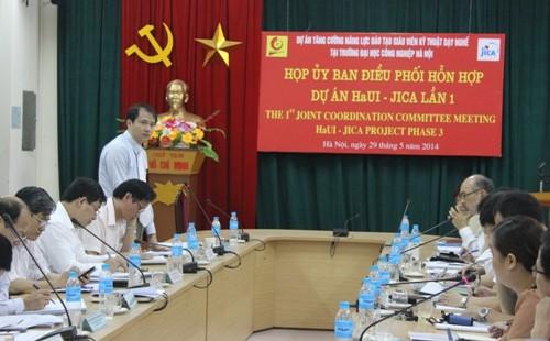 Họp Ủy ban điều phối hỗn hợp Dự án HaUI - JICA lần 1