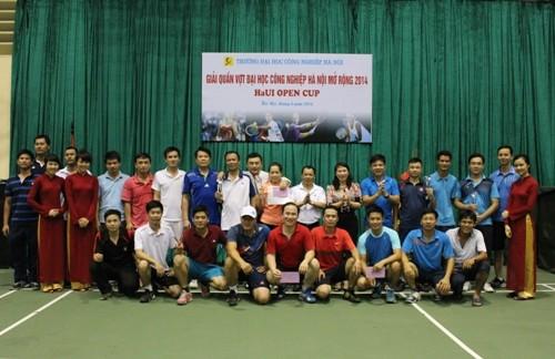 Giải Quần vợt Đại học Công nghiệp Hà Nội mở rộng 2014
