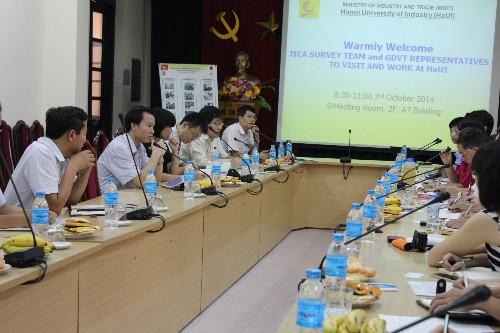 Lãnh đạo Nhà trường làm việc với Đoàn khảo sát vốn vay ODA