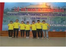 Sinh viên Nhà trường dành 3 giải Nhì, 1 giải Ba tại Olympic Toán học sinh viên toàn quốc