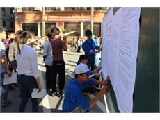 Màu áo xanh tình nguyện tại Cụm thi số 5 - trường ĐHCN Hà Nội