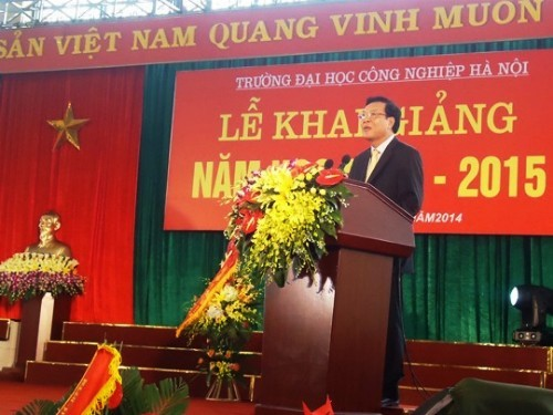 Minister Pham Vu Luan attends the opening ceremony of the