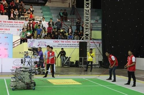 Robocon 2015: Sáu đại diện Nhà trường tranh tài tại vòng loại khu vực phía Bắc