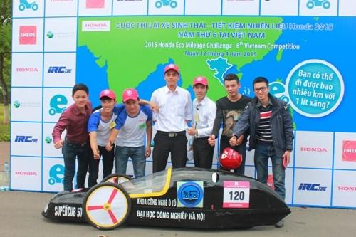 HaUI tranh tài ở cuộc thi Lái xe sinh thái - Tiết kiệm nhiên liệu Honda 2015 lần thứ 6