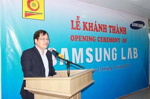Lễ khánh thành phòng LAB và khai giảng khóa lập trình ứng dụng di động Samsung