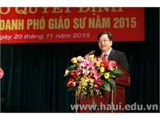Lễ kỷ niệm ngày Nhà giáo Việt Nam và công bố Quyết định bổ nhiệm chức danh Phó Giáo sư năm 2015