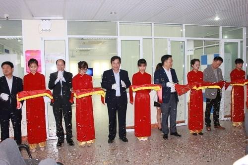 Inaugurating Samsung LAB at HaUI