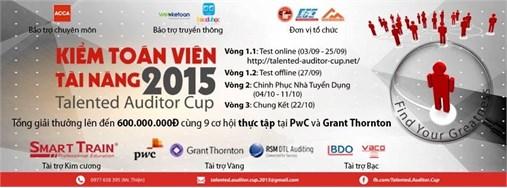 Thông tin chính thức về cuộc thi Kiểm toán viên tài năng-Talented Auditor Cup 2015