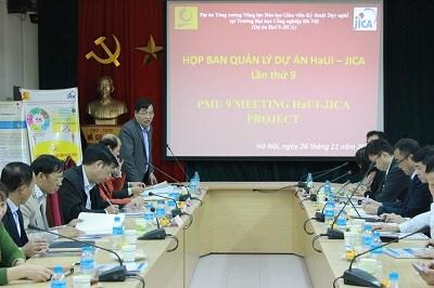 Họp Ban quản lý Dự án HaUI-JICA lần thứ 9