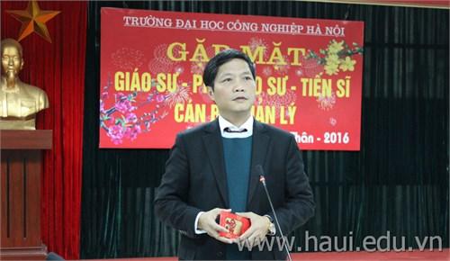 Thứ trưởng Trần Tuấn Anh thăm và chúc tết trường Đại học Công nghiệp Hà Nội