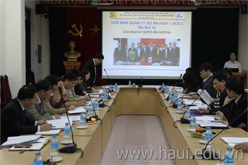 Họp Ban quản lý Dự án HaUI-JICA lần thứ 10