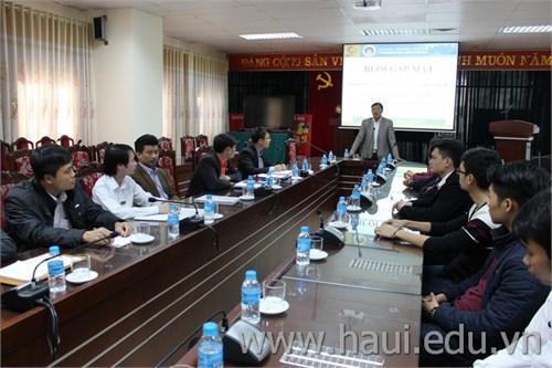 Gặp mặt đoàn giáo viên và thí sinh tham dự Hội thi tay nghề Thành phố Hà Nội năm 2016