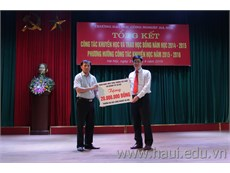 Tổng kết Công tác khuyến học và trao học bổng năm học năm học 2014 - 2015