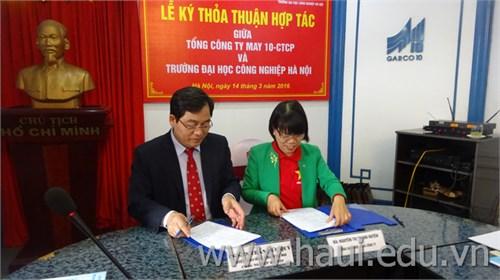 Ký thỏa thuận hợp tác với Tổng Công ty May 10