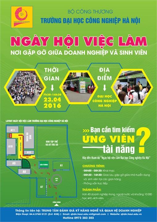 Thông báo ngày hội việc làm Trường Đại học Công nghiệp Hà Nội năm 2016