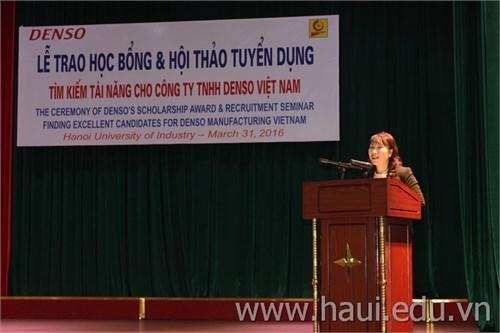 Lễ trao học bổng và Hội thảo cơ hội việc làm của Công ty TNHH DENSO Việt Nam