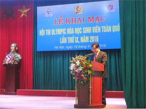 Sáng ngày 18/4/2016 tại Trường Đại học Công nghiệp Hà Nội diễn ra Lễ khai mạc Hội thi Olympic Hóa học Sinh viên toàn quốc lần thức IX